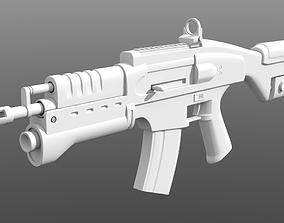 3D Assault Rifle Sci-FI