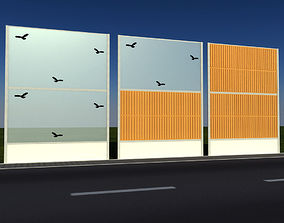 Noise barrier 3D model