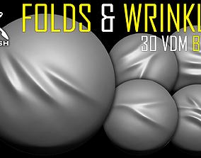 3D Folds and Wrinkles VDM Brush for ZBrush