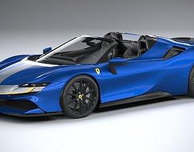 3D model Ferrari SF90 Spider 2021