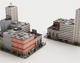 The buildings 3d models game-ready
