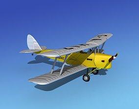 3D Dehavilland DH82 Tiger Moth V02