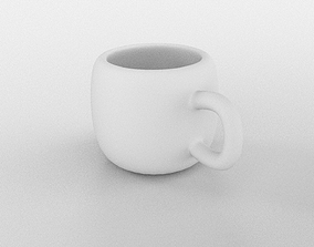 glass Coffee Cup 3D model