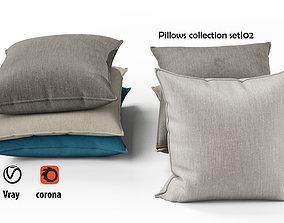 Pillows set 02 3D