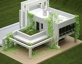 architecture 3D model Villa 001 V2