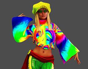 3D Hippie Girl