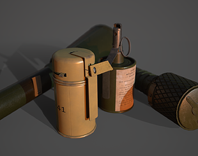 3D model WW2 Soviet Grenades Pack