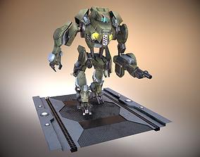 Sci-fi Mechanoid 3D model