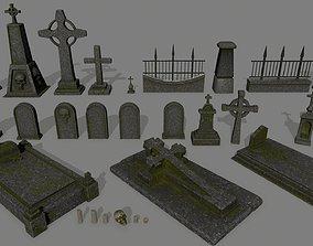 3D asset realtime tombstone set