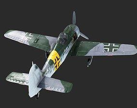 3D model WWII Germany Fw-190 Fighter Wurger FW190