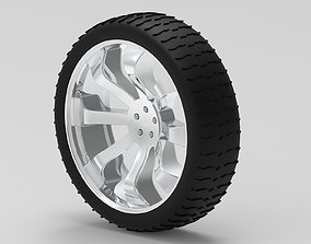 wheel and tire 3D