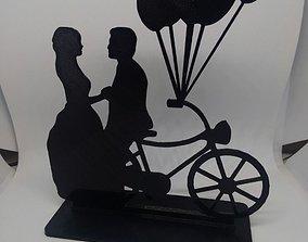 Wedding Cake Topper bicycle 3D print model