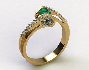 3D print model Emerald heart