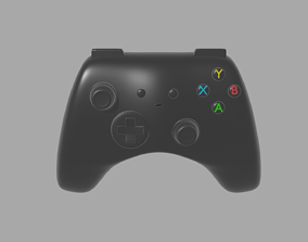 3D asset low-poly Gamepad