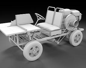lumberjack Mobile wood sawmill concept PBR 3D model