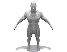 3D asset High Resolution Male Base