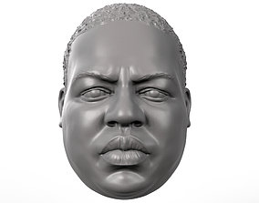 Biggie action figure head portrait 3D print model