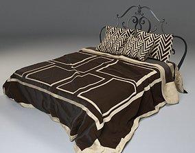 3D model Draped Bed Heavy Cloth