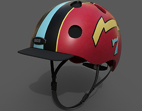 Helmet sport scifi human 3d low poly bike low low-poly