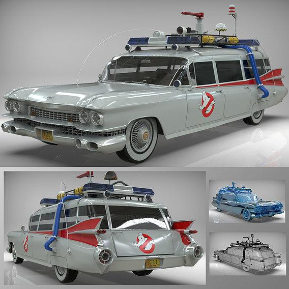 Goshtbusters Ecto-1 Wagon vehicle cadillac 1959