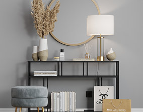 West Elm Dressing table Profile 3D