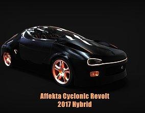 3D model Affekta Cyclonic Concept Sport car LowPoly