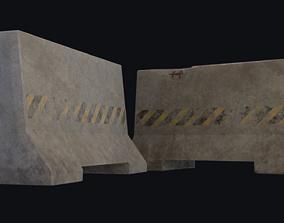 Roadblock 3D model low-poly