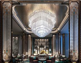 hotel lobby bar 3D model