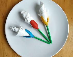 Tulip napkin holder 3D printable model