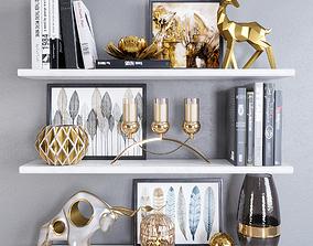 3D Decor Set bookcase