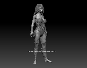 Customizable Wonder Woman Figure For 3D Printing