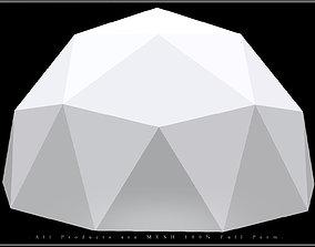 Ico Sphere - Half 3D asset
