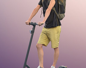 11310 Stephen - casual man shorts backpack on 3D model