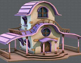 3D asset House Cartoon V01