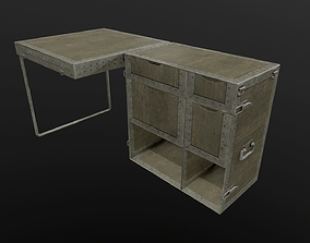 3D asset Metal Table