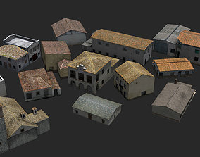 Town Photo based 20 Houses European 3D asset