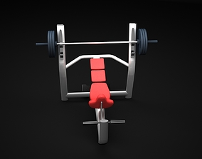 Bench Inclined 3D model