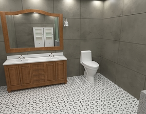 clotheshanger bathroom 3D
