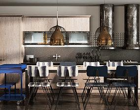 3D Scavolini diesel social kitchen type 002