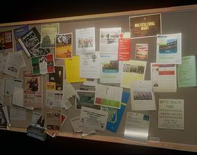 Flyer Bulletin Board 3D