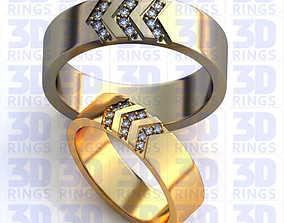 gold 3D model Wedding rings 551