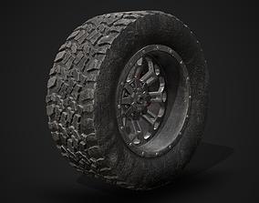 Wide Rear Wheel 3D