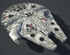Game Ready Star Wars Millennium Falcon 3D asset