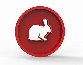 bunny stamp cookie form 3D model