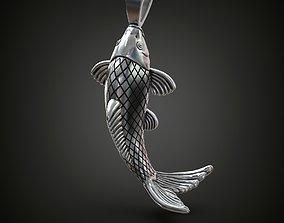 3D print model pendants Fish pendant