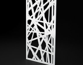 CNC panel Lines solid lattice 3D asset