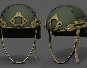 3D asset Helmet military combat fantasy futuristic