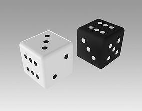 3D model lucky Dice cubes