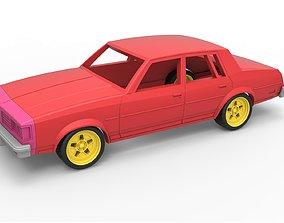 Diecast shell and wheels old school 3D printable model 4