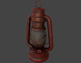 3D asset game-ready kerosene lamp
